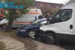 Accident la Gherla. Un bărbat a ajuns la spital | VIDEO