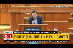 Scandal și fluierături în Parlamentul României. / FOTO