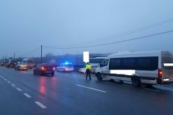 FOTO Beat la volanul unui microbuz de transport persoane. Polițiștii clujeni au imobilizat 3 autobuze în urma unor filtre în trafic pe DN1 și DN1C