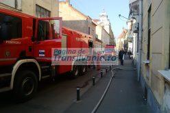 FOTO și VIDEO Incendiu la o casă pe strada Iuliu Maniu