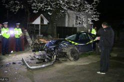 FOTO SI VIDEO Accident grav la Cluj. Un tânăr BEAT și-a nenorocit prietenul și și-a distrus mașina