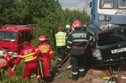 FOTO/VIDEO: Trei morți și două persoane în stop cardio respirator în urma unui accident de tren la Viișoara, Bistrița Năsaud!