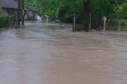 VIDEO: Inundații în localitatea Bârsana din județul Maramureș