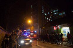 FOTO: 160 de studenti au fost evacuati de urgenta in urma unui incendiu dintr-un campus UBB Cluj