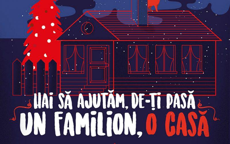 UN FAMILION, O CASĂ! Campanie de strângere de fonduri în cadrul Târgului de Crăciun din Cluj-Napoca