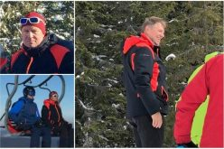 """Klaus Iohannis e la Șureanu. Congresul PSD, """"sărbătorit"""" de președinte la schi, în județl Alba"""