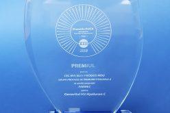 """Pentru al doilea an consecutiv, Farmec obține titlul de """"Cel mai bun produs nou"""" pentru Gerovital H3 Hyaluron C"""