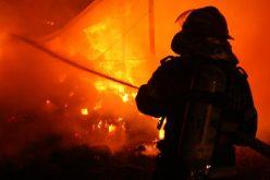 Distilerie distrusă de flăcări în Bistrița-Năsăud