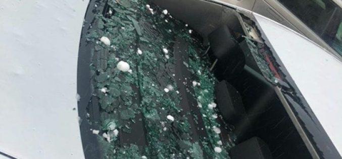 FOTO/VIDEO: Prapad in Zalau dupa ce o furtuna. Zeci de mașini distruse de gheata