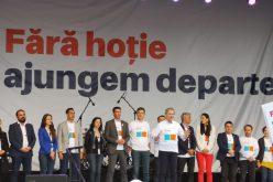 Atacuri dure la adresa PSD, lansate la Cluj, la primul miting electoral al Alianţei USR-PLUS