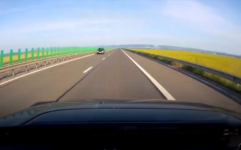 VIDEO: Femeie circuland pe contrasens pe autostrada A3 la intrarea dinspre Campia Turzii