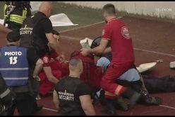 VIDEO / Jandarmul lovit cu scaunul în cap internat la Terapie Intensivă, în Clinica de Neurochirurgie