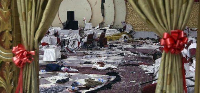 Bilanțul atacului sinucigaș comis la o nuntă la Kabul a ajuns la 63 de morți și 182 de răniți