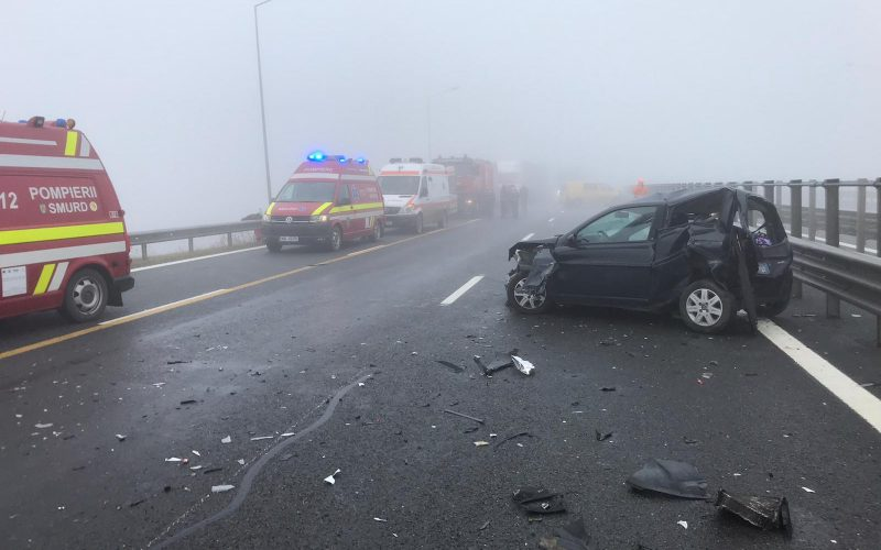 FOTO-VIDEO | Accident rutier pe A3,  tronsonul Gilau – Turda