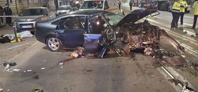 GRAV ACCIDENT in Cluj Napoca! Un sofer beat la volan a incercat sa fuga de politie, iar un tanar nevinovat si-a pierdut viata