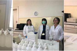 Soluție dezinfectantă, preparată în laboratoarele Facultății de Farmacie din Cluj!