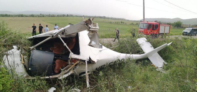 FOTO | Avion prăbușit la Vințu de Jos ăn Judeșul Alba