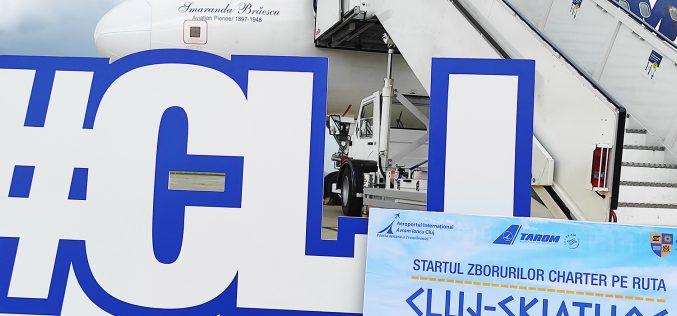 FOTO   Skiathos, Grecia este prima destinaţie charter operată de compania Tarom,  de pe Aeroportul Internaţional Cluj în sezonul de vară 2020