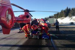 Accident grav în Pasul Tihuța! Impact deosebit de violent între două TIR-uri! Elicopterul SMURD a ajuns în zonă
