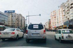 VIDEO Calea Dorobanților din Cluj, blocată de câțiva șoferi în semn de protest față de Guvern