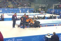 VIDEO: Sportivul român Laurențiu Nistor s-a accidentat GRAV după ce a căzut la bară fixă.