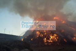 VIDEO: Incendiu la rampa de gunoi a Clujului