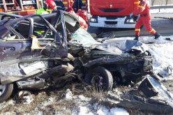 FOTO/ VIDEO: Accident cu 6 victime pe DN17 la iesirea din Bistrita. O persoana a decedat