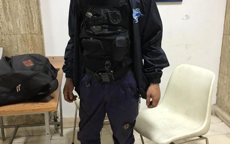 FOTO / A fost prins un fals jandarm de către un jandarm adevărat